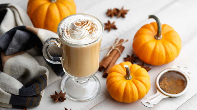 PSL with pumpkins and spices