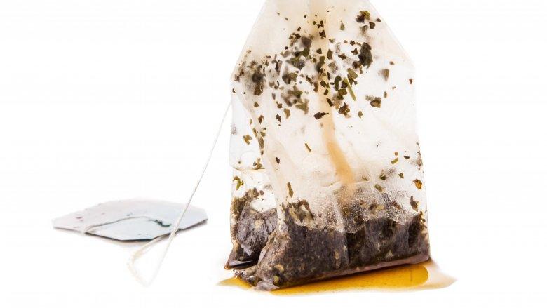 wet tea bag