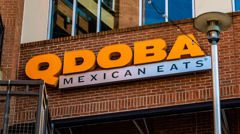 qdoba mexican eats storefront sign