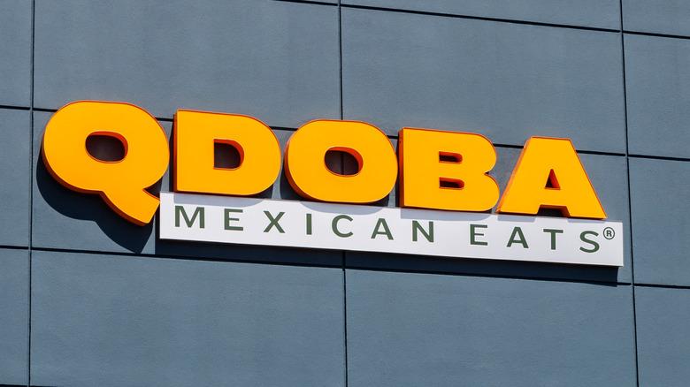 Qdoba Mexican Eats sign on buliding
