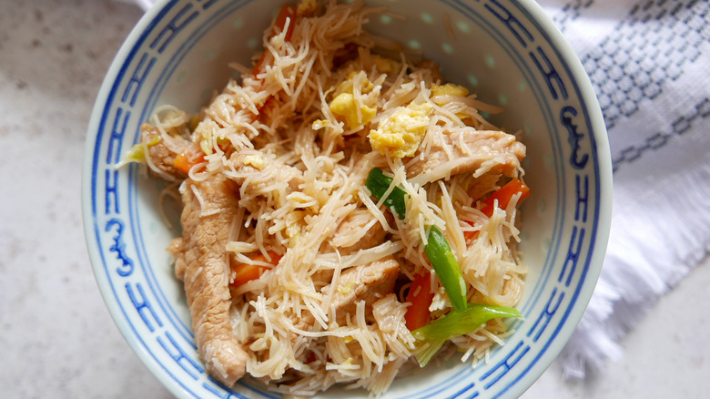 Pork Mei Fun in bowl
