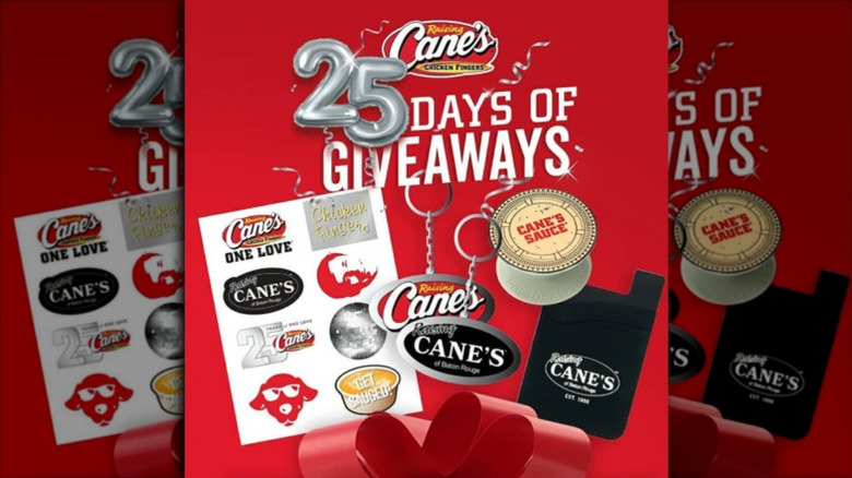 Raising Cane's 25 year anniversary giveaway prizes