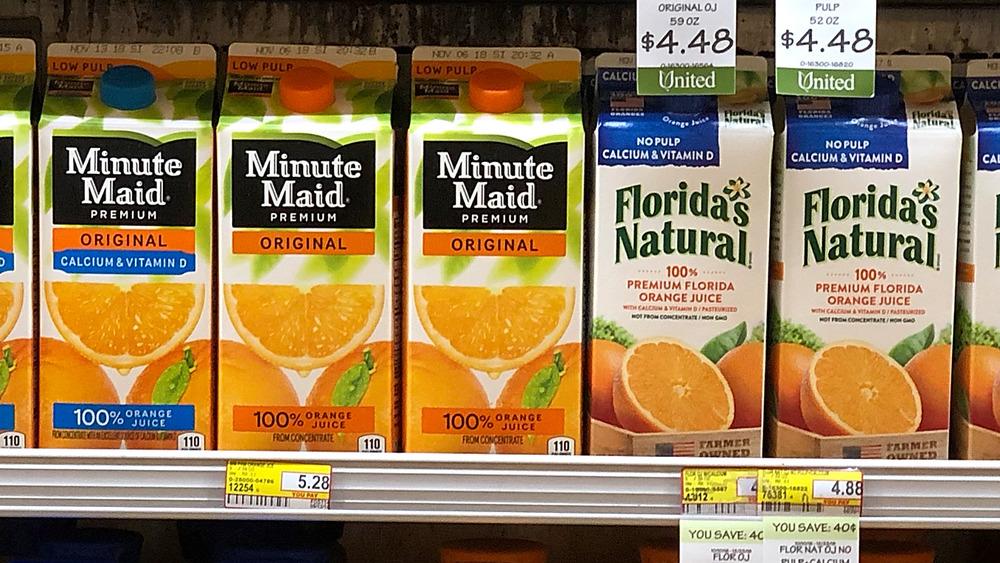 Orange juice varieties