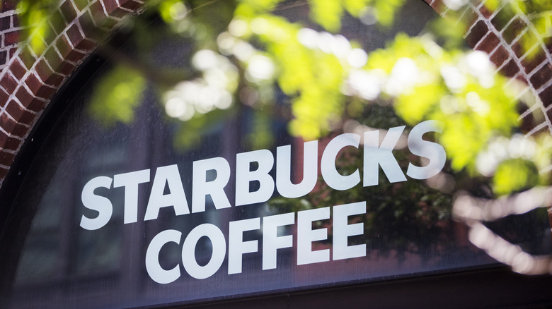 The exterior of a Starbucks