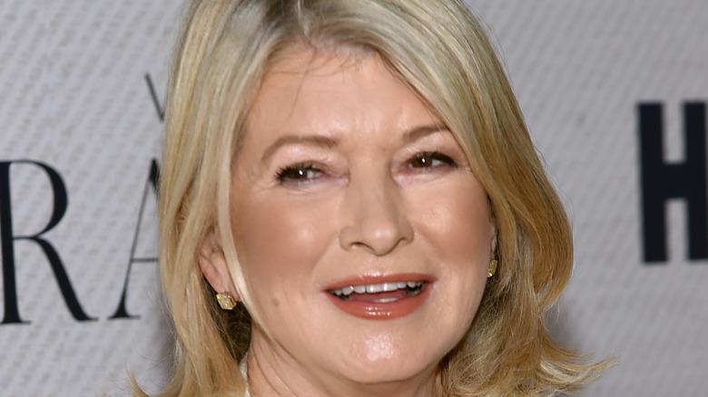 Martha Stewart attending movie premier