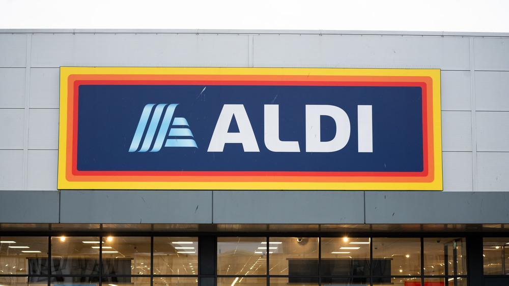 Colorful Aldi store sign
