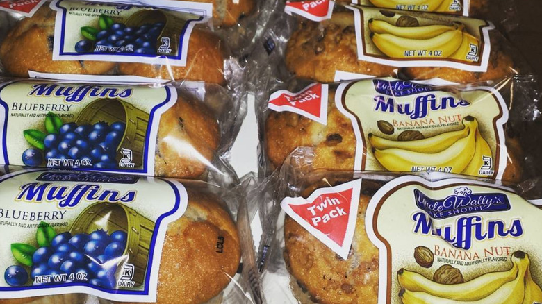 Packs of Uncle Wally's muffins