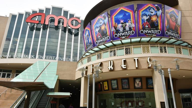 AMC movie theater front