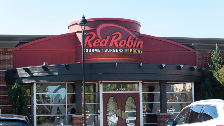Outside of a Red Robin