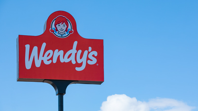 Wendy's sign in the sky