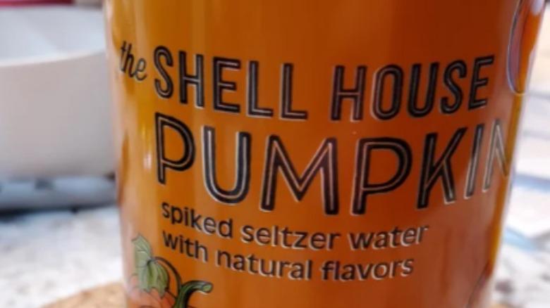 Pumpkin spiked seltzer water