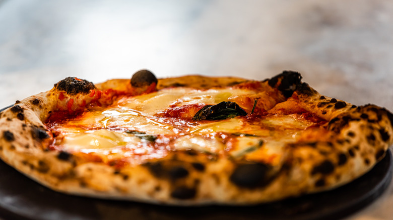 Neapolitan pizza with char