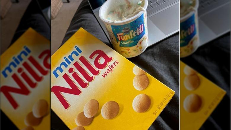 Nilla Wafers and Funfetti Frosting