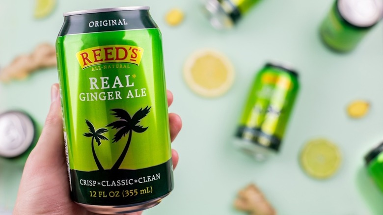 Line up of Reed's Ginger Ale