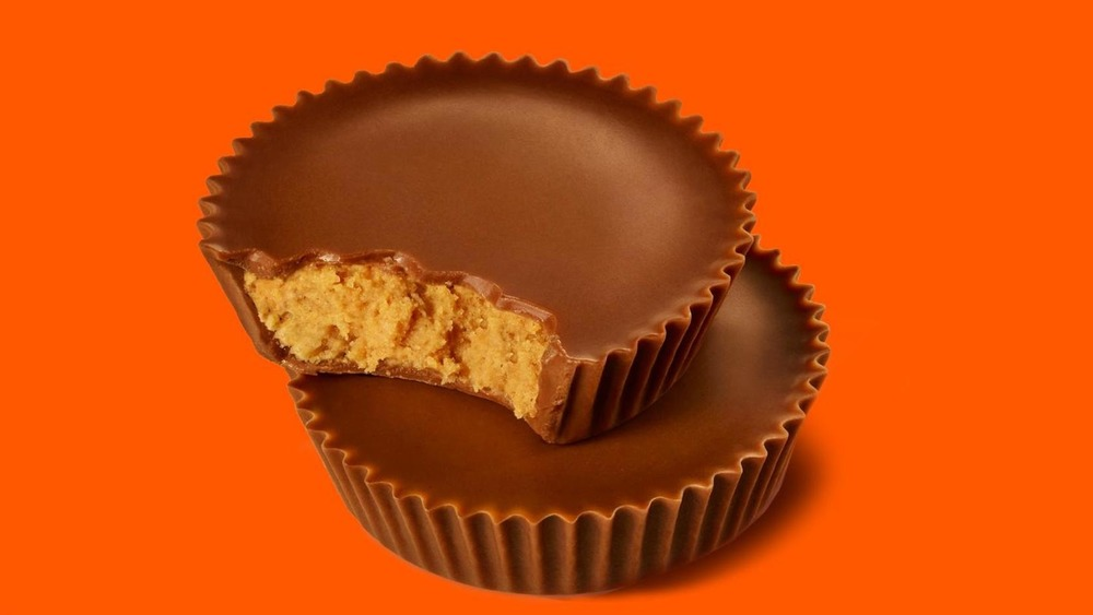 Stacked Reese's peanut butter cups
