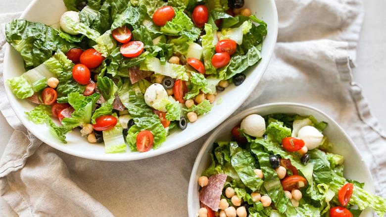 two salad bowls