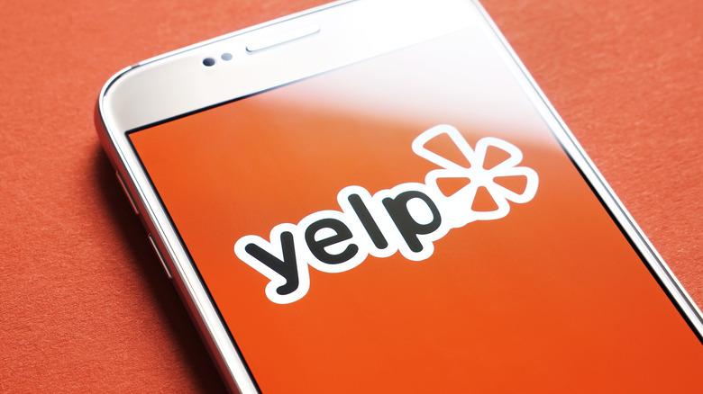 Yelp app displayed on phone