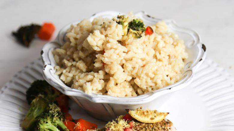 bowl of 5-ingredient vegan Risotto