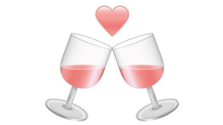 Rose wine emoji