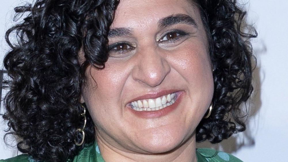 Samin Nosrat wearing green dress