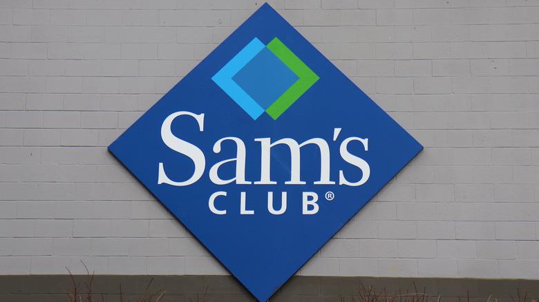 Sam's Club sign on building