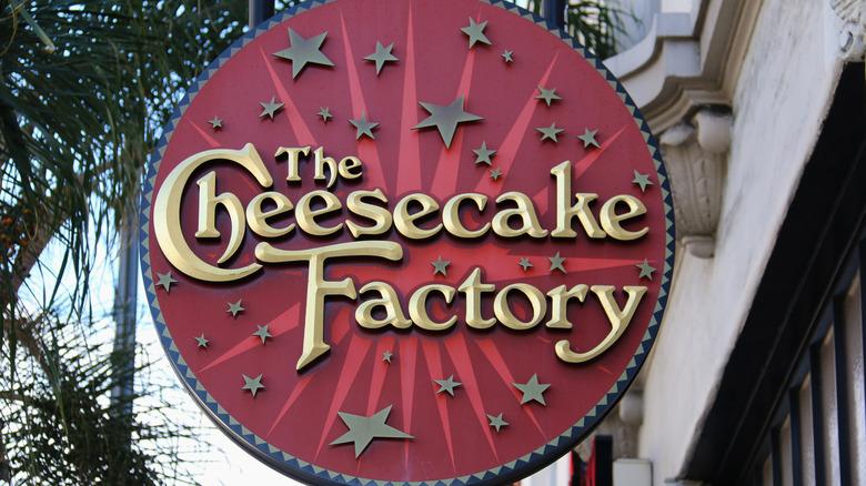 The Cheesecake Factory circular sign