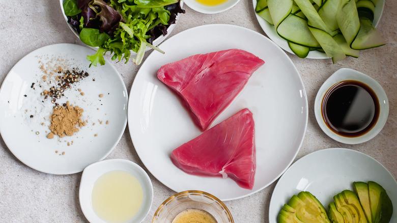 ahi tuna salad ingredients