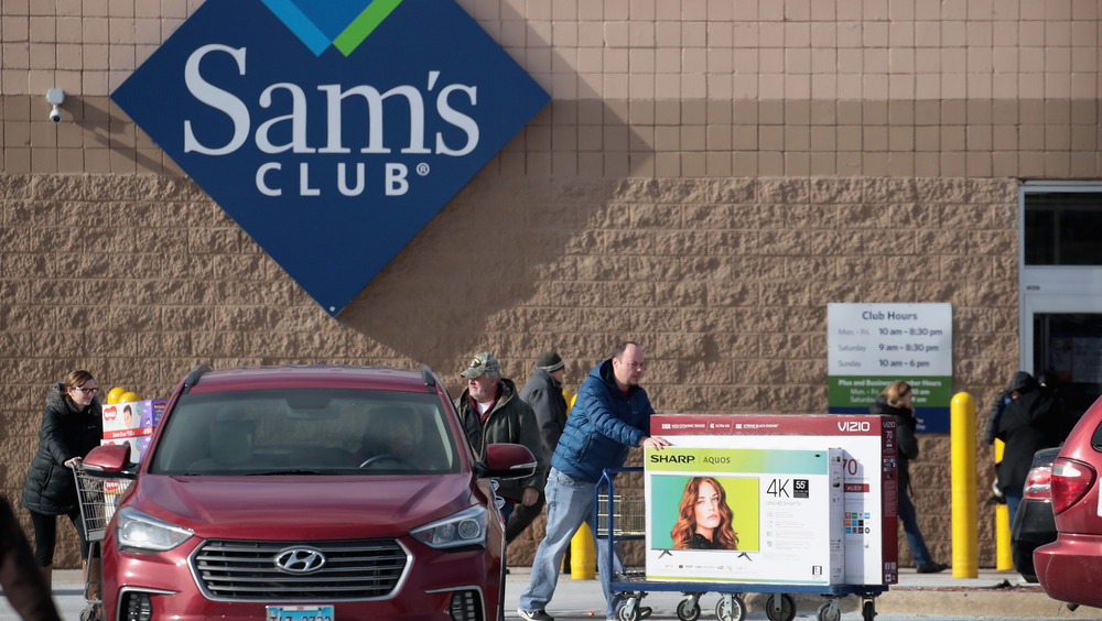 Sam's Club shoppers huge televisions
