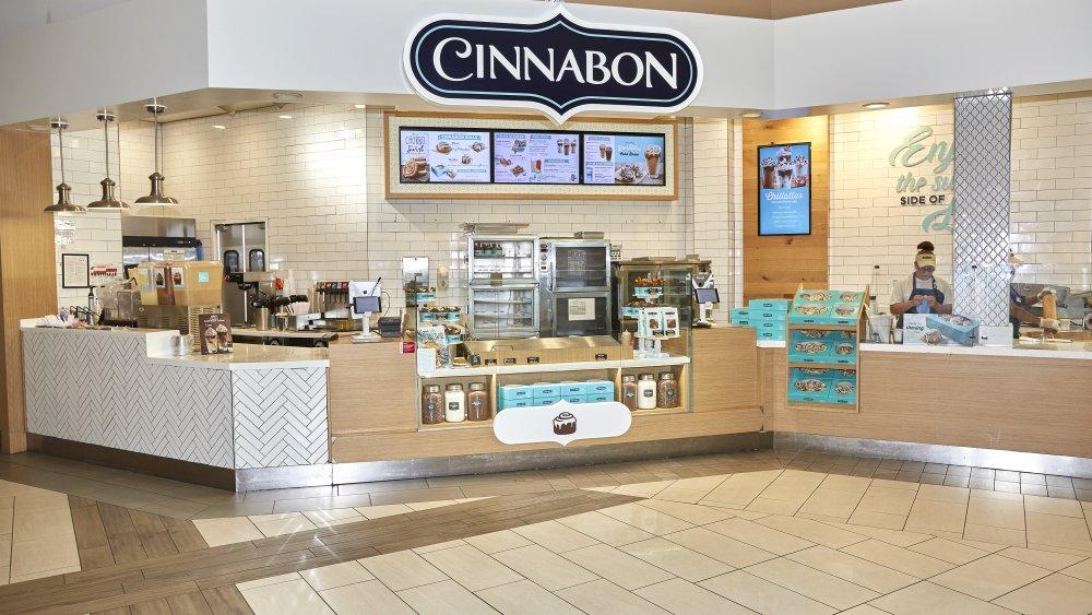 Cinnabon bakery in mall