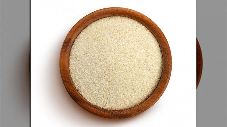A bowl of semolina