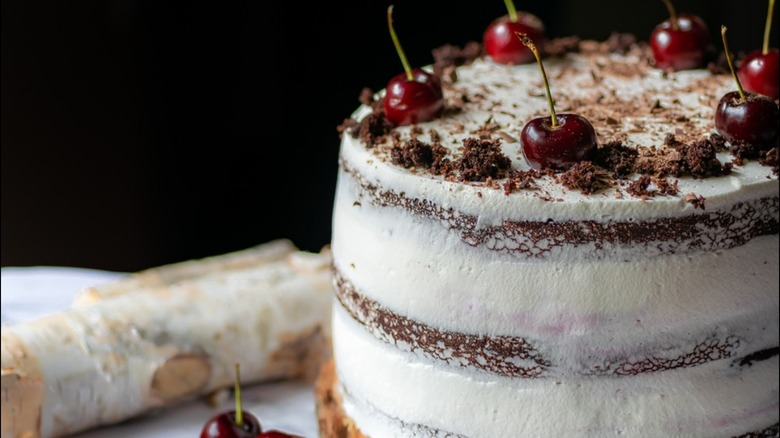 black forest cake cherries