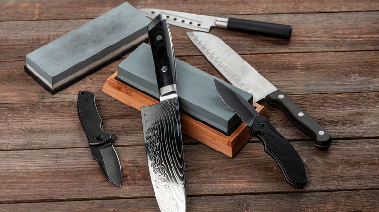 assortment of knives and tools