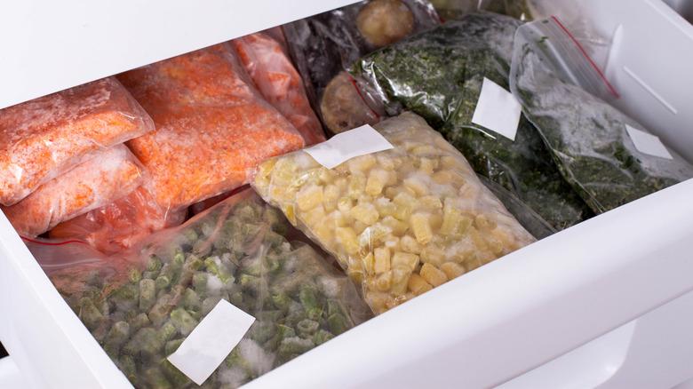 bags frozen veggies