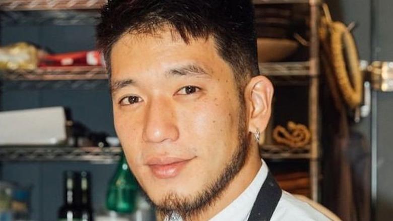 Chef Shota smiling in the TV kitchen