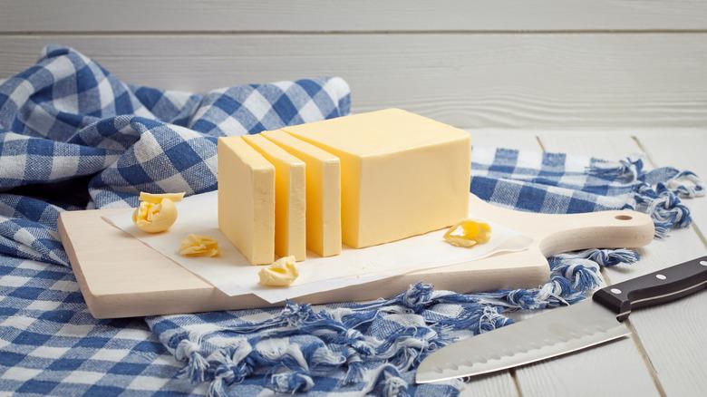 sliced butter stick