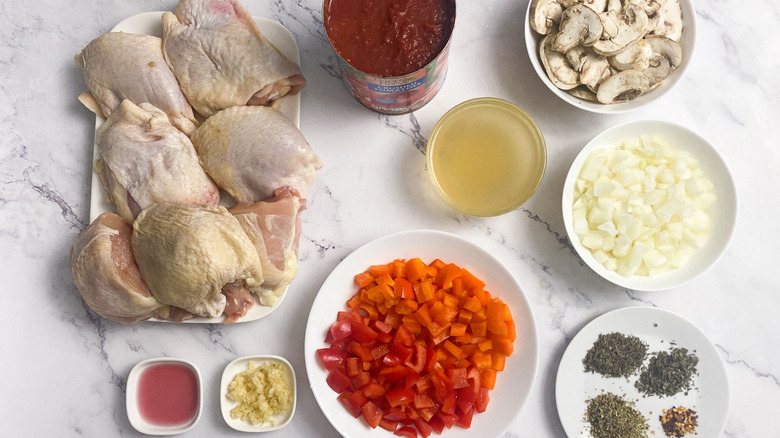 ingredients for chicken cacciatore