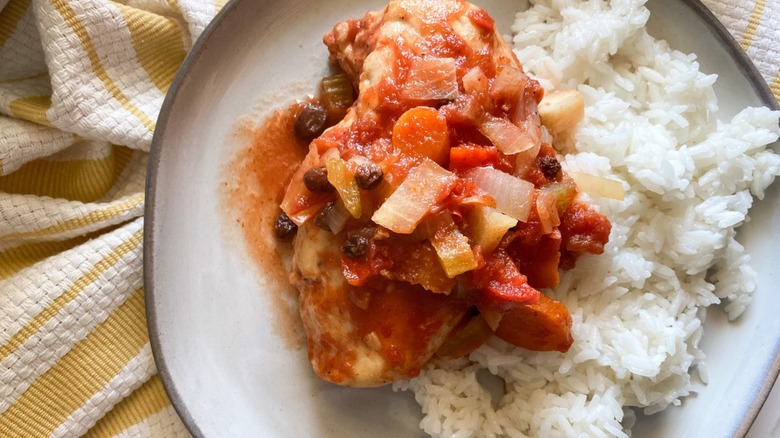 Country captain chicken with rice