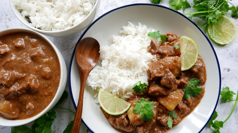 massaman curry in a bowl