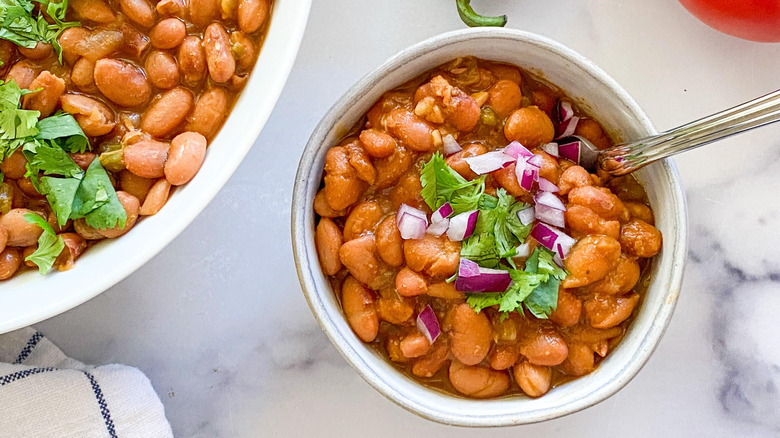 serving of pinto beans