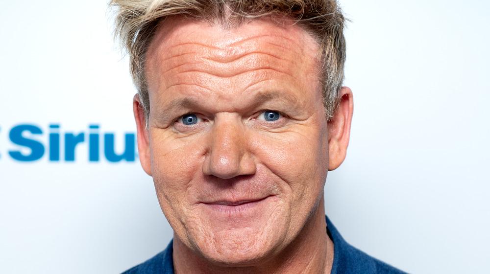 Gordon Ramsay smirking