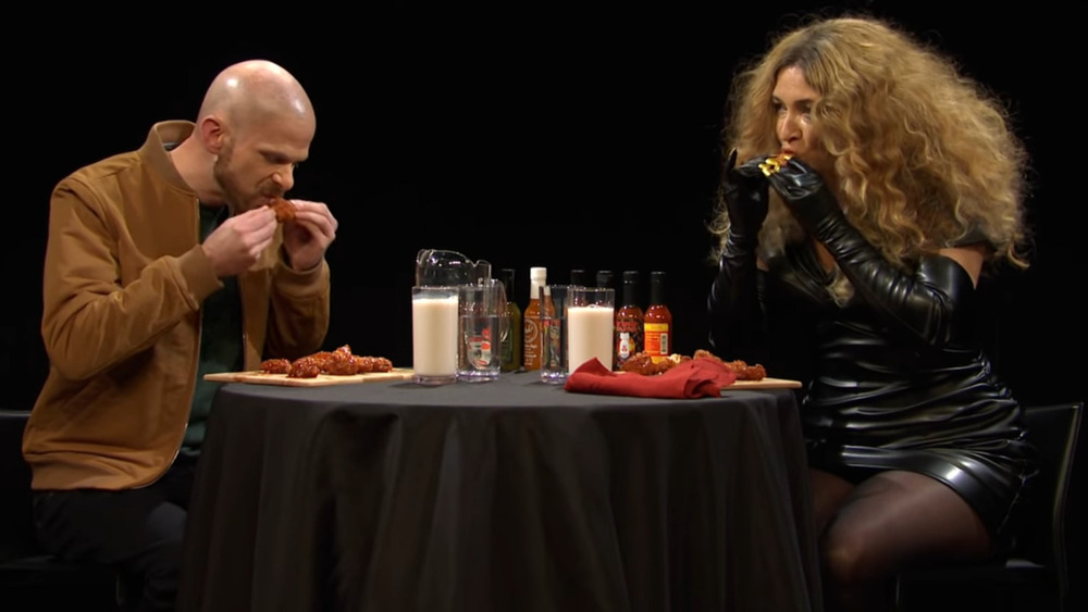 Mikey Day and Maya Rudolph as Sean Evans and Beyoncé