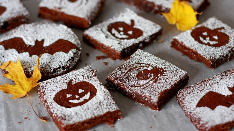 Halloween themed brownies