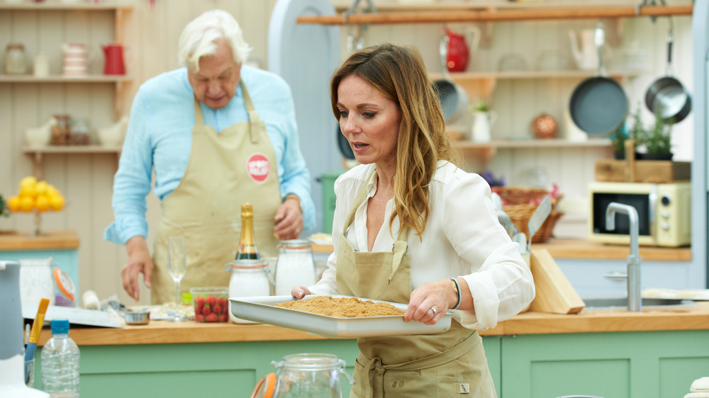 Contestant bakes on The Great British Baking Show