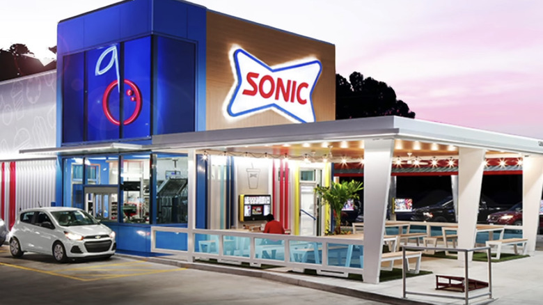 Sonic Drive-in redesign with outdoor seating