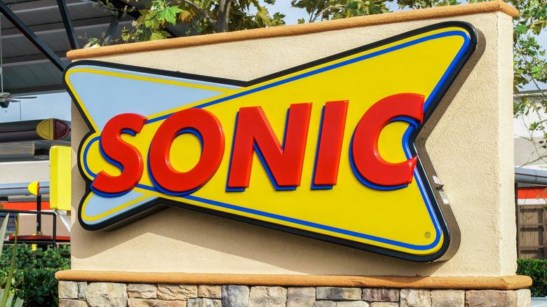 Sonic logo outside restaurant