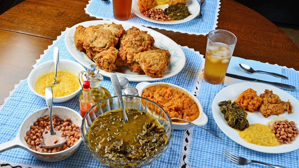 soul food on a table