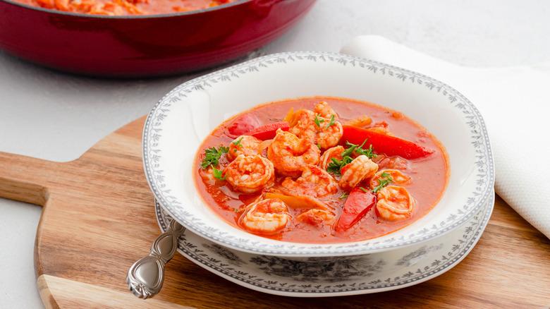 Spicy shrimp stew recipe