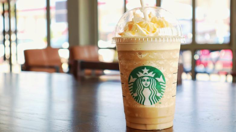 A Starbucks Caramel Frappuccino