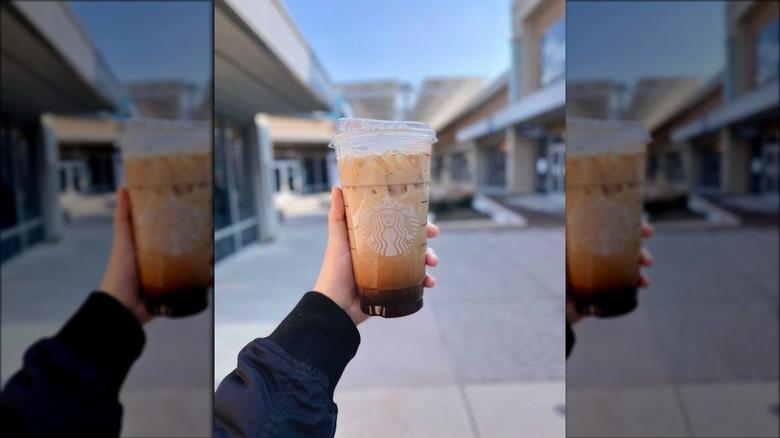 Starbucks Iced Coffee customer