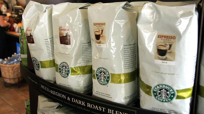 Starbucks coffee beans, packaged